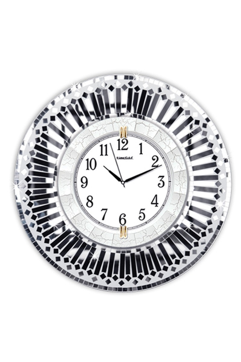 BS Siyah BS-TG261S Gümüş Duvar Saati