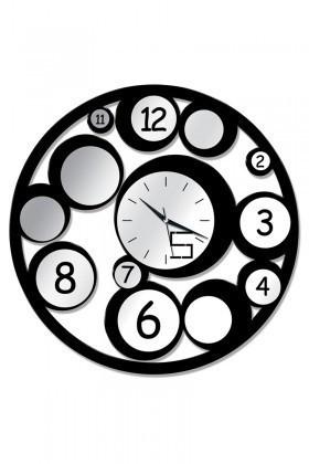 BS Siyah BS-TG258 Aynalı Dekoratif Duvar Saati