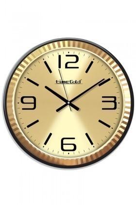 BS Altın Sarısı BS-TG247S Dekoratif Metal Çerçeveli Duvar Saati