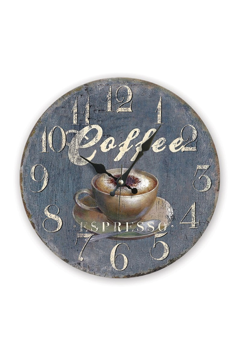BS Lacivert BS-TG229-7 Coffee Antik Ahşap Duvar Saati