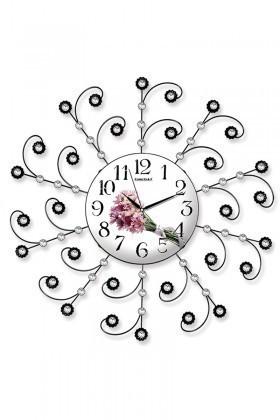 BS Beyaz-Siyah BS-TG220Ç Ferforje Dekoratif İlginç Duvar Saati