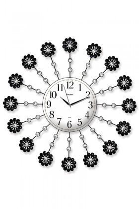 BS Beyaz-Siyah BS-TG221 Taşlı Ferforje Büyük Boy Duvar Saati