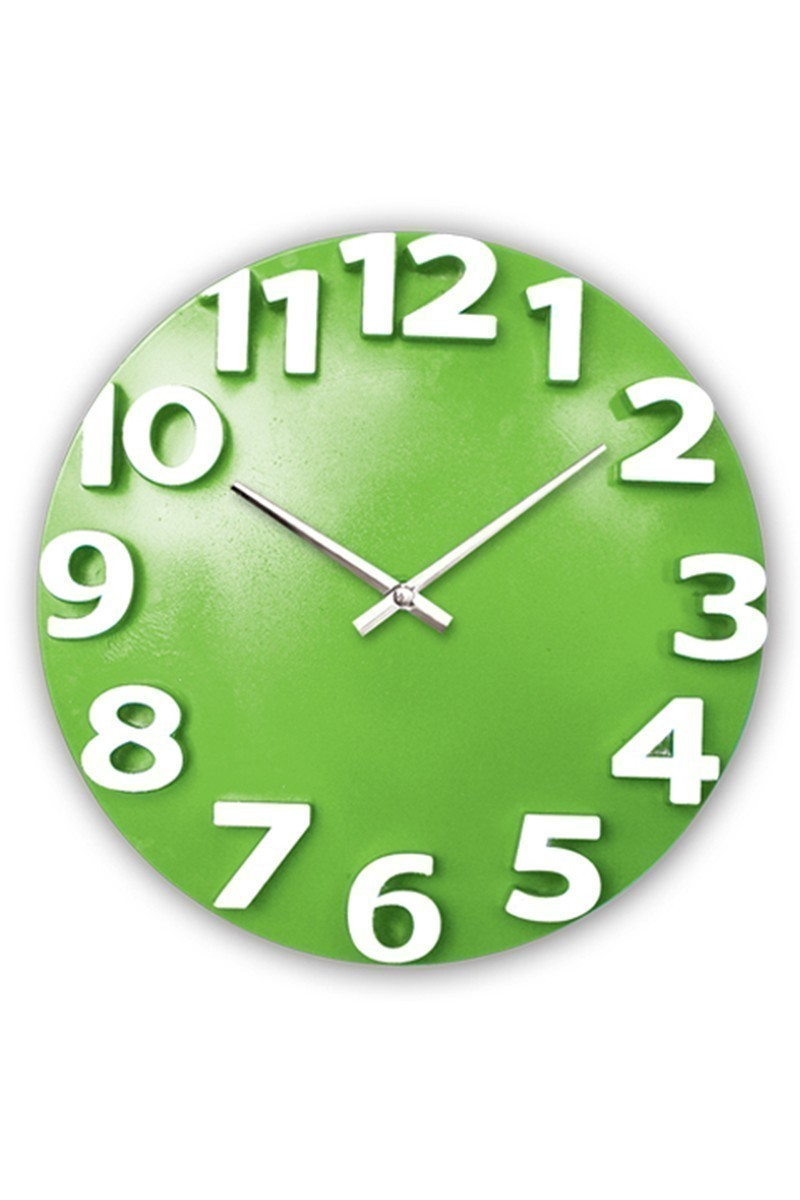 BS Yeşil-Beyaz BS-TG207-Y Dekoratif Renkli Eros Duvar Saati
