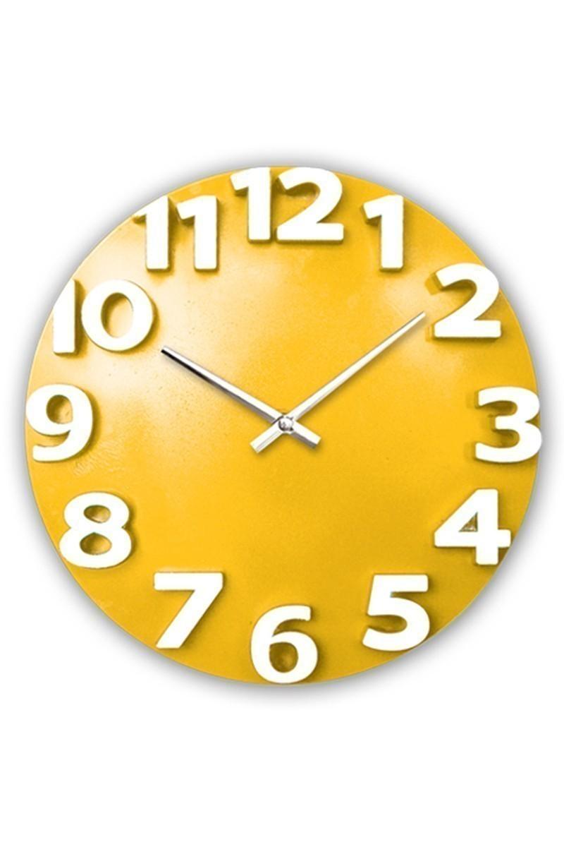 BS Sarı-Beyaz BS-TG207-S Dekoratif Renkli Eros Duvar Saati