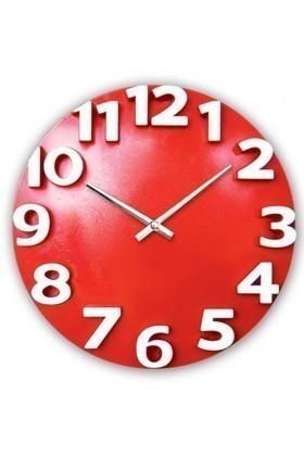 BS Kırmızı-Beyaz BS-TG207-K Dekoratif Renkli Eros Duvar Saati