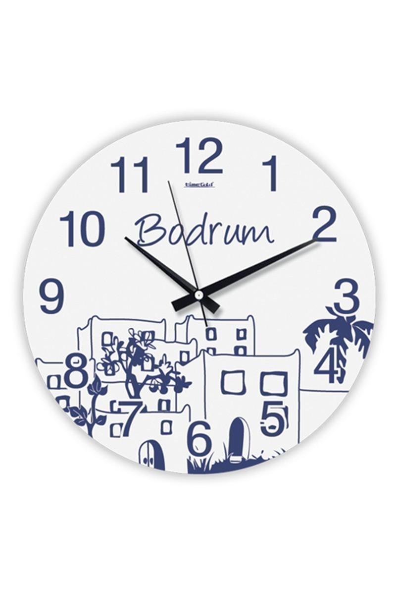 BS Beyaz BS-TG204-BODRUM Bodrum Duvar Saati