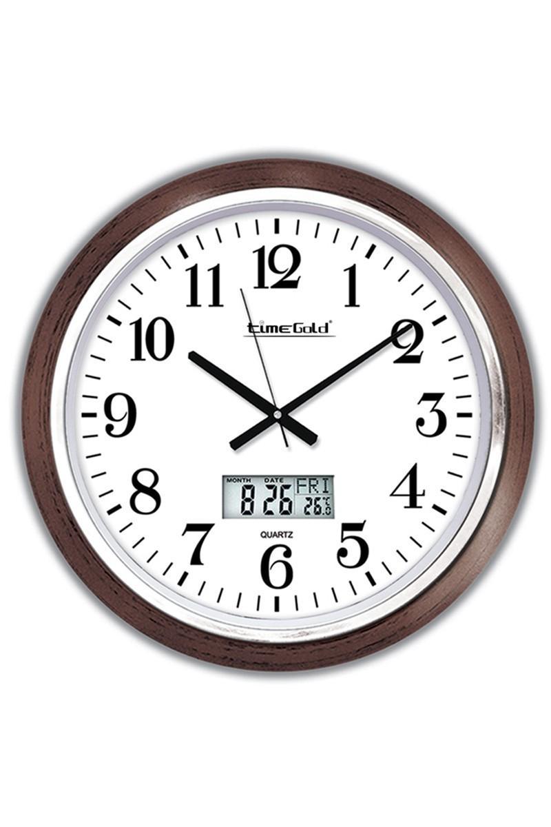 BS Beyaz-Kahverengi BS-TG190ART Dijital Duvar Saati