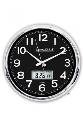 BS Siyah-Gümüş BS-TG172STR Metalize Siyah Dijital Duvar Saati