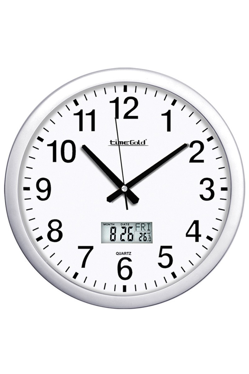 BS Beyaz BS-TG154TR Yuvarlak Dijital Duvar Saati