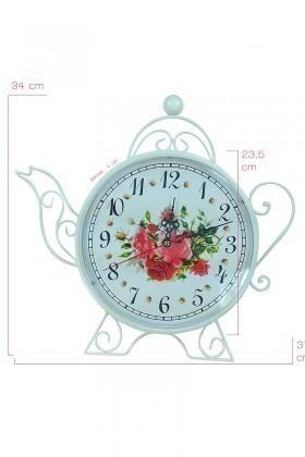 BS Beyaz BS-CS3098 Çaydanlık Duvar Saati