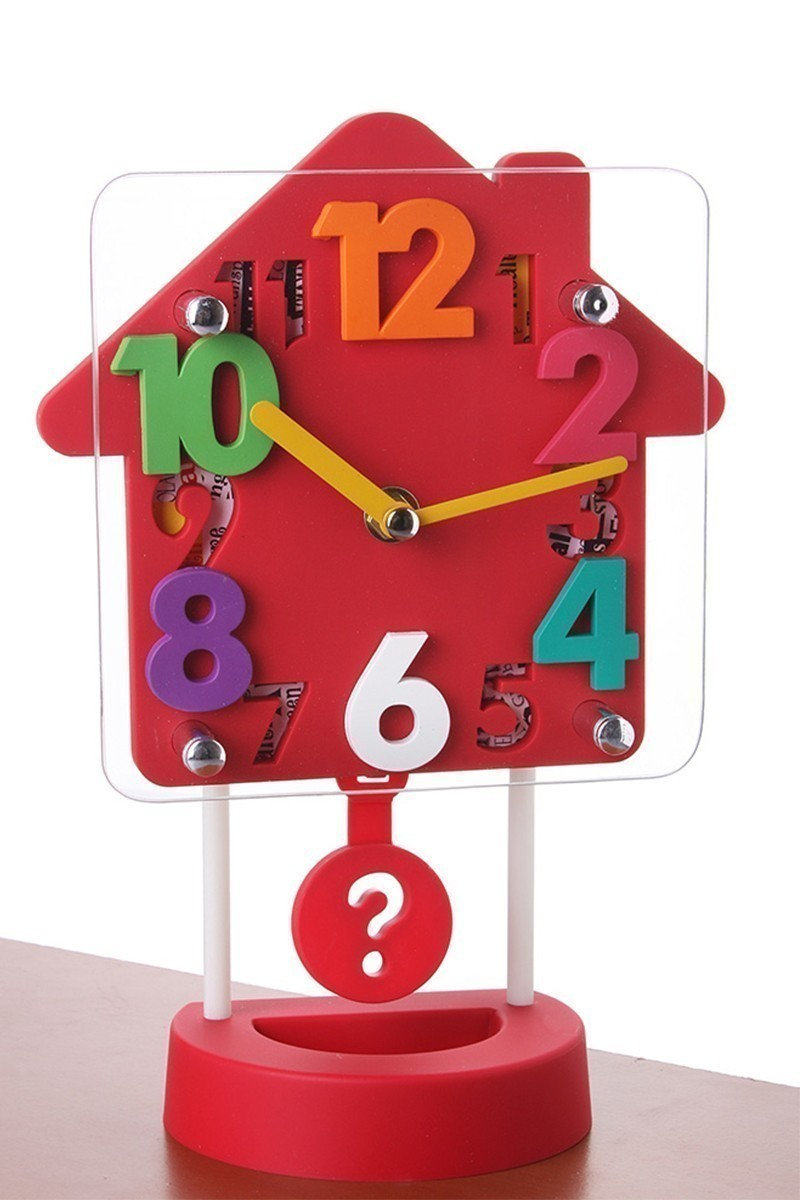 BS Kırmızı C-399-K-Kırmızı Masa Saati