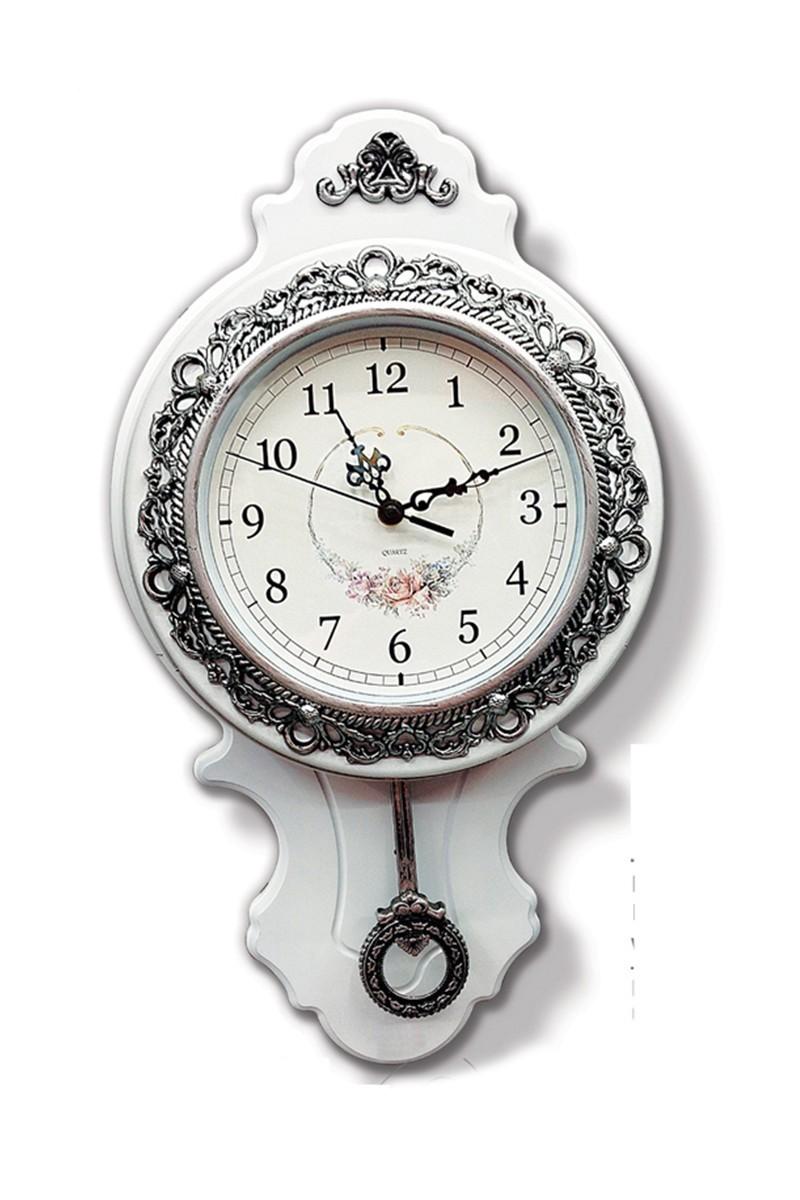 BS Beyaz BS-AK6606 Ahşap Suadiye Sarkaçlı Duvar Saati