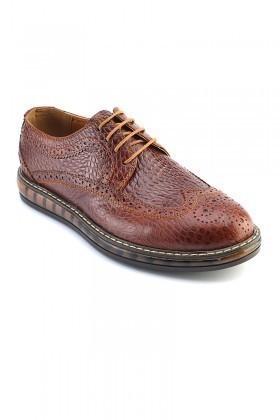 Pandew Kahverengi PNDW-8080-YILAN Hakiki Deri Erkek Ayakkabı