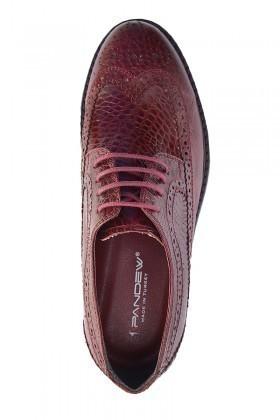 Pandew Bordo PNDW-8080-YILAN Hakiki Deri Erkek Ayakkabı
