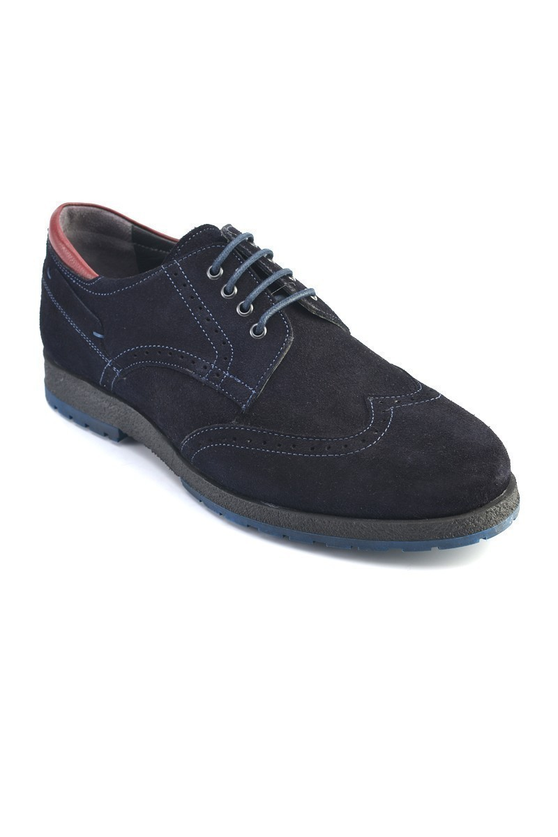 Pandew Lacivert PNDW-2120 Hakiki Deri Erkek Ayakkabı