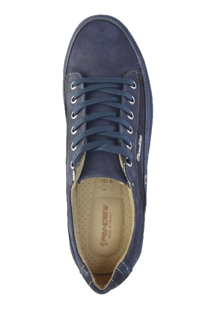 Pandew Lacivert PNDW-554 Hakiki Deri Erkek Ayakkabı