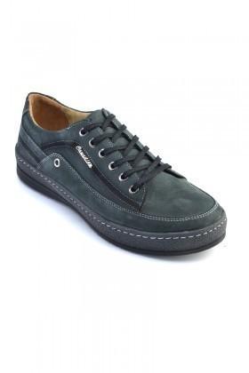 Pandew Gri PNDW-554 Hakiki Deri Erkek Ayakkabı