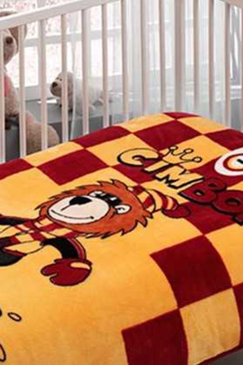 Taç Sarı-Kırmızı DD-4327969 Taç Lisanslı Bebek Battaniyesi Galatasaray Board