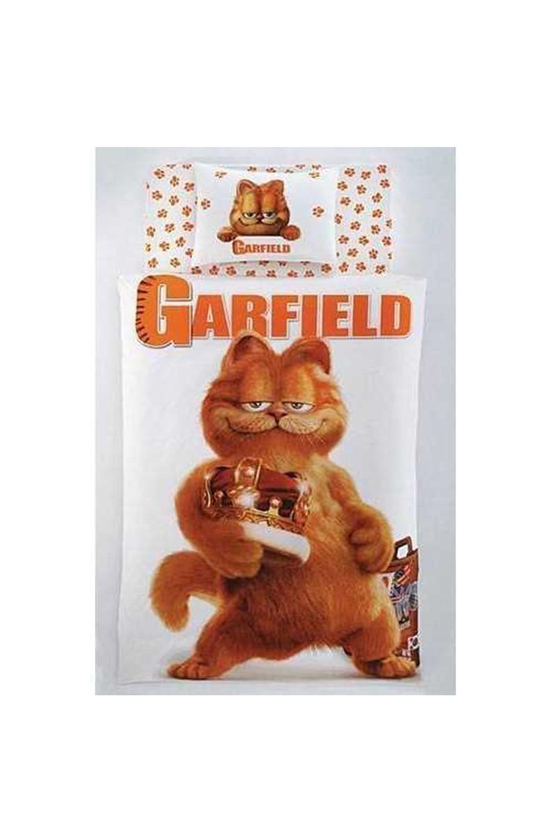 Taç Beyaz DD-53453434 Taç Lisanslı Nevresim Takımı Garfield King
