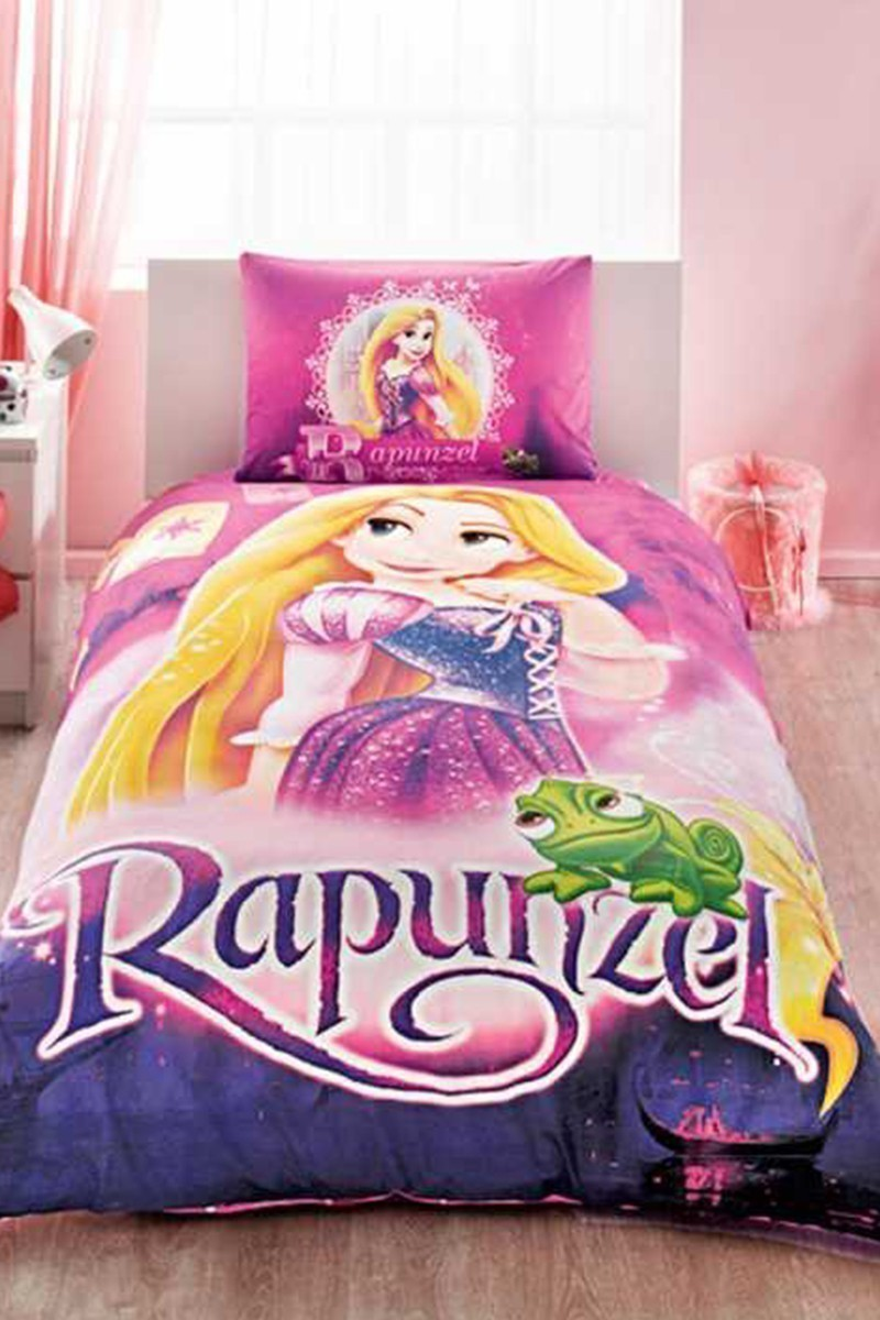 Taç Pembe DD-60102875 Taç Lisanslı Nevresim Takımı Rapunzel
