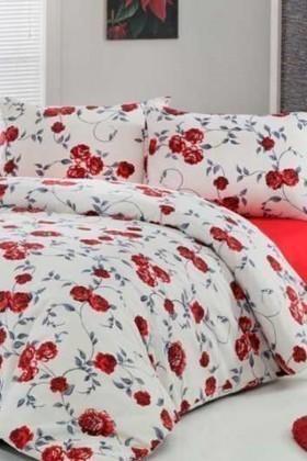 Gülin Işıl Kırmızı DD-61593679 Gülin Rose Çift Kişilik Nevresim Takımı