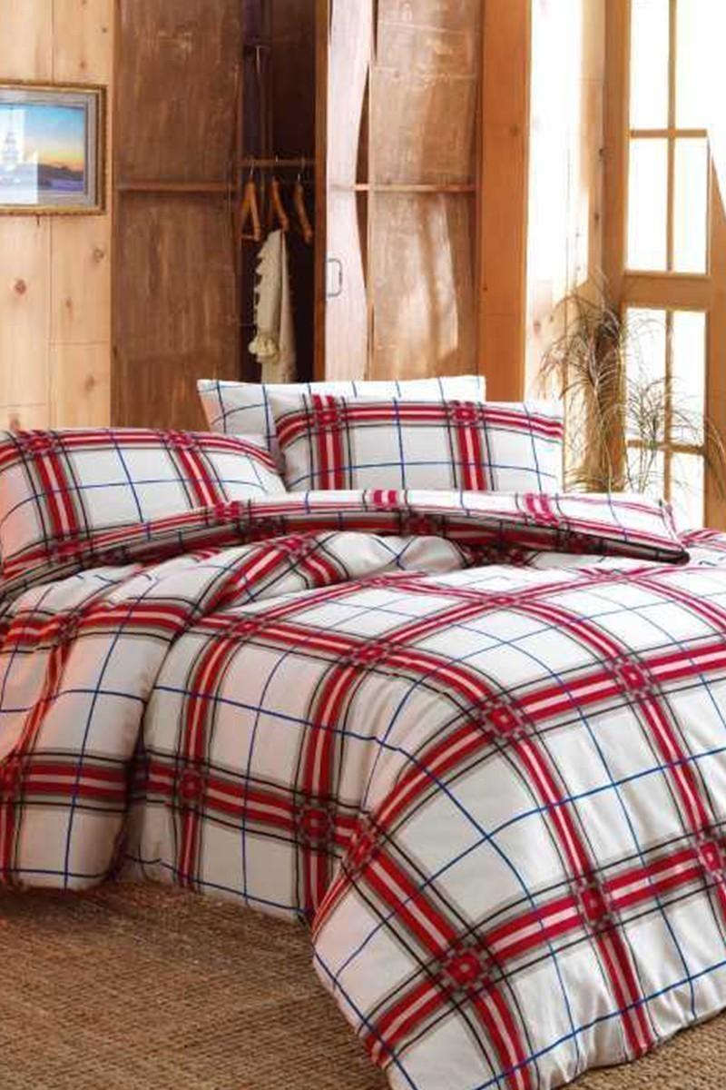 Evim Home Kırmızı DD-34515121 Evim Home Flanel Nevresim Takımı Çift Kişilik Do