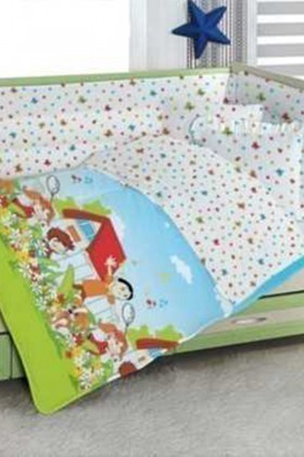 Altınbaşak Mavi DD-43210026 Altınbaşak Bebek Nevresim Takımı Gülücük