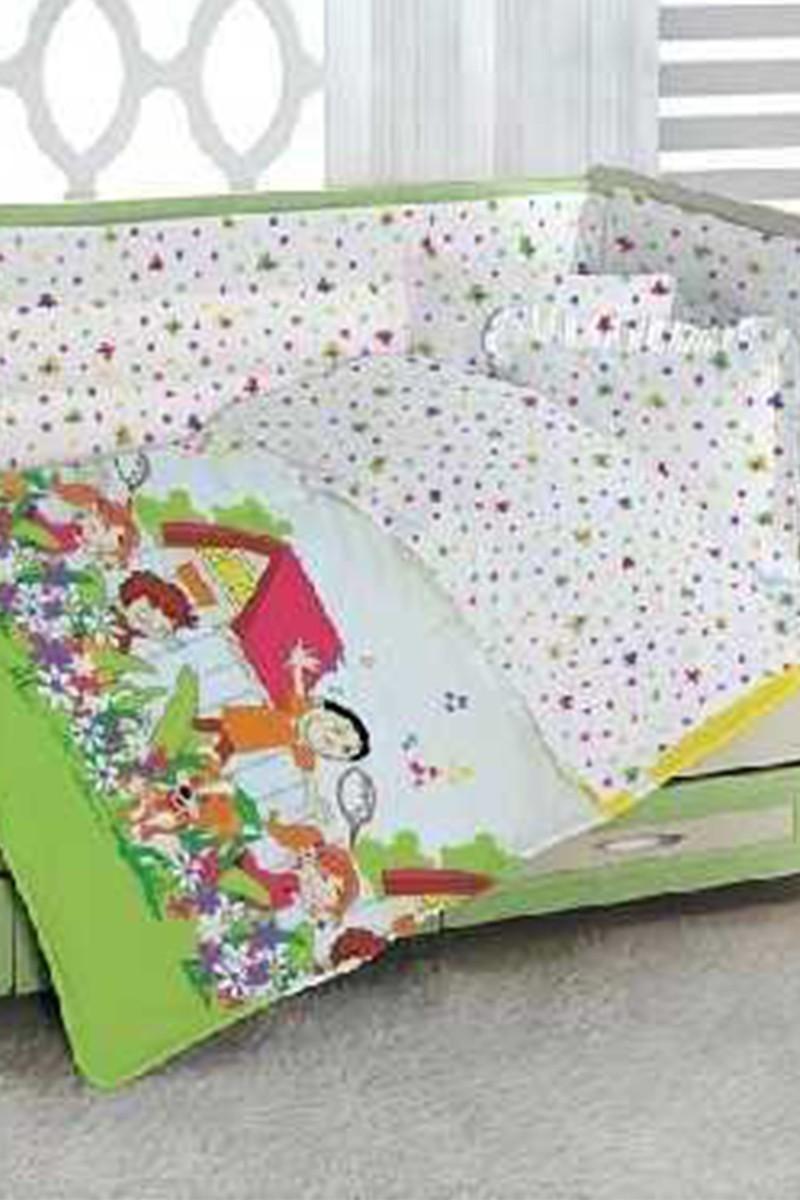 Altınbaşak Sarı DD-43210027 Altınbaşak Bebek Nevresim Takımı Happykids