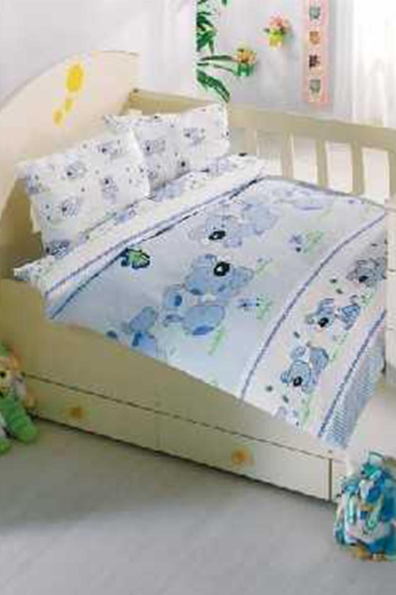 Altınbaşak Mavi DD-43210008 Altınbaşak Bebek Nevresim Takımı Sevimli Bebek
