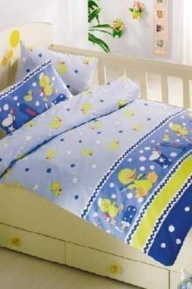 Altınbaşak Mavi DD-43210012 Altınbaşak Bebek Nevresim Takımı Vak Vak