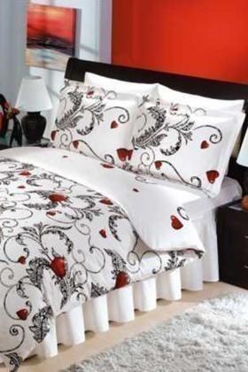Altınbaşak Beyaz DD-43430070 Altınbaşak Çift Kişilik Saten Uyku Seti Gizem