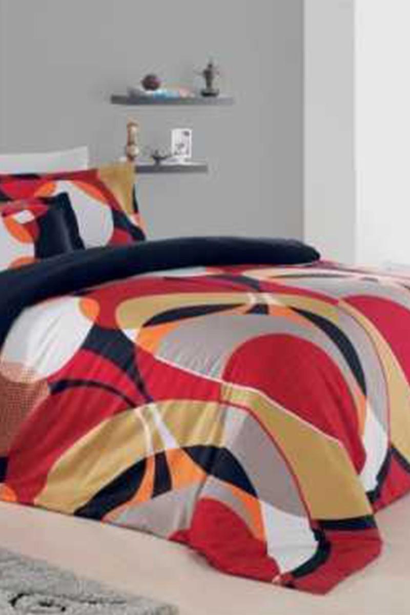 Altınbaşak Kırmızı DD-43440042 Altınbaşak Çift Kişilik Saten Uyku Seti Dekor