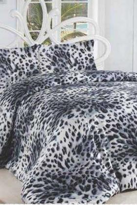 Altınbaşak Siyah DD-43230303 Altınbaşak Çift Kişilik Nevresim Takımı Leopar