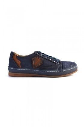 Pandew Lacivert PNDW-551 Hakiki Deri Erkek Ayakkabı