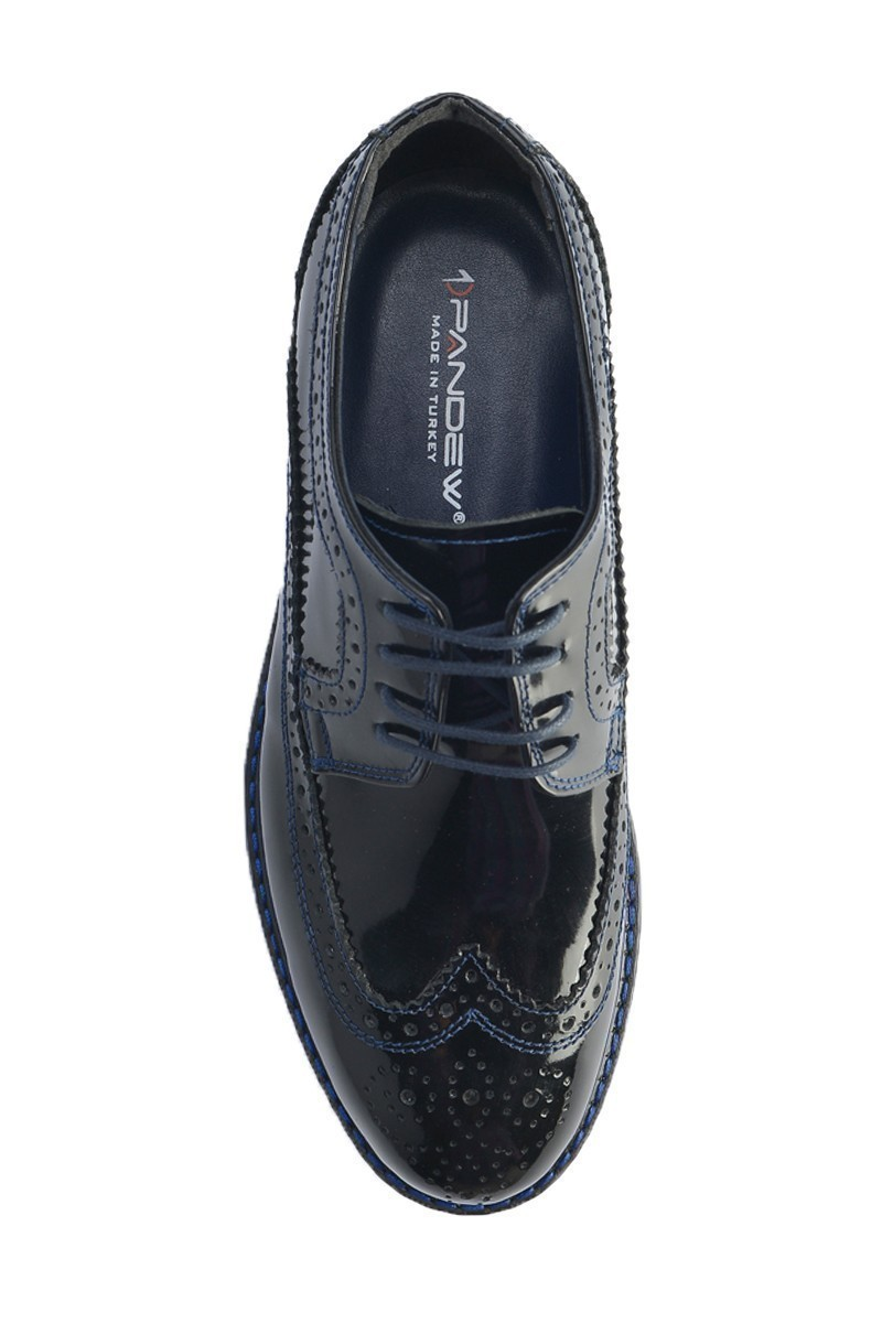 Pandew Lacivert PNDW-8080-RUGAN Hakiki Deri Erkek Ayakkabı