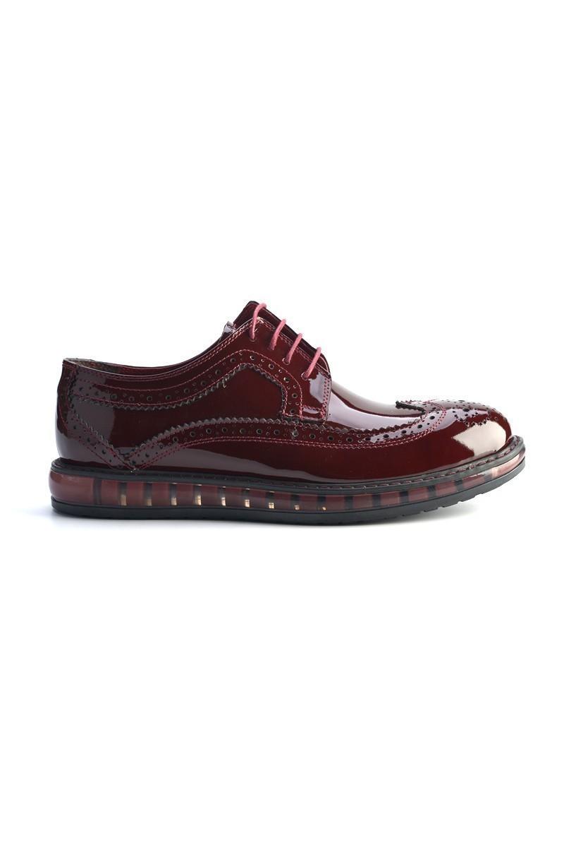 Pandew Bordo PNDW-8585-RUGAN Hakiki Deri Erkek Ayakkabı