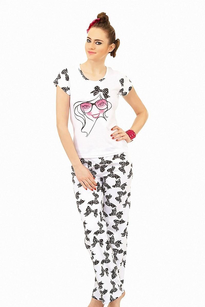 Lady Lingerie Beyaz LL-9125 Bayan Pijama
