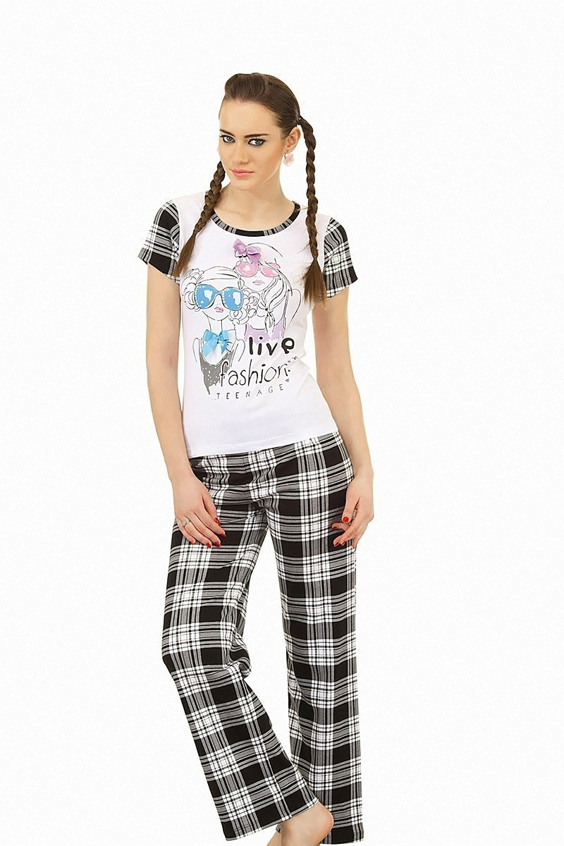 Lady Lingerie Siyah LL-9120 Bayan Pijama