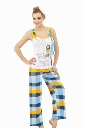 Lady Lingerie Mavi LL-9095 Bayan Pijama