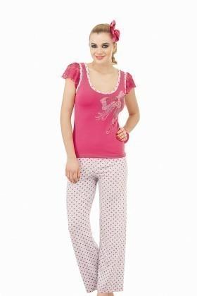 Lady Lingerie Pembe LL-9065 Bayan Pijama