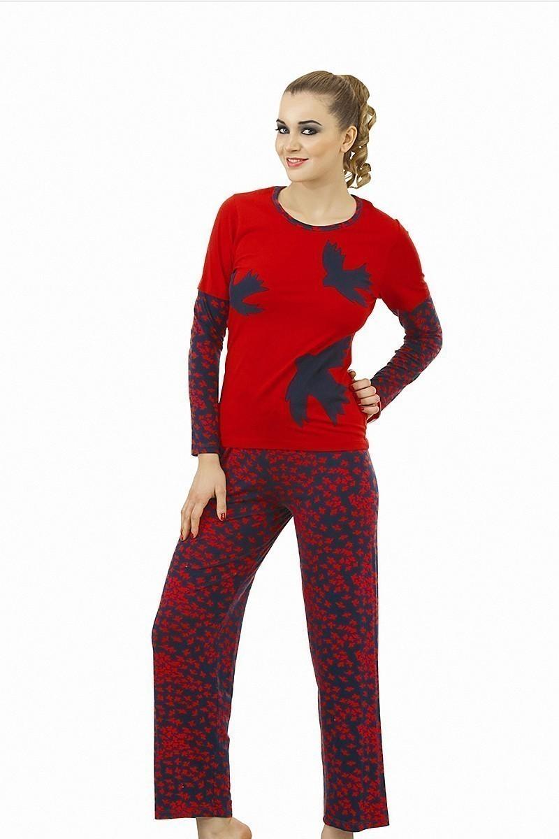 Lady Lingerie Kırmızı LL-9040 Bayan Pijama