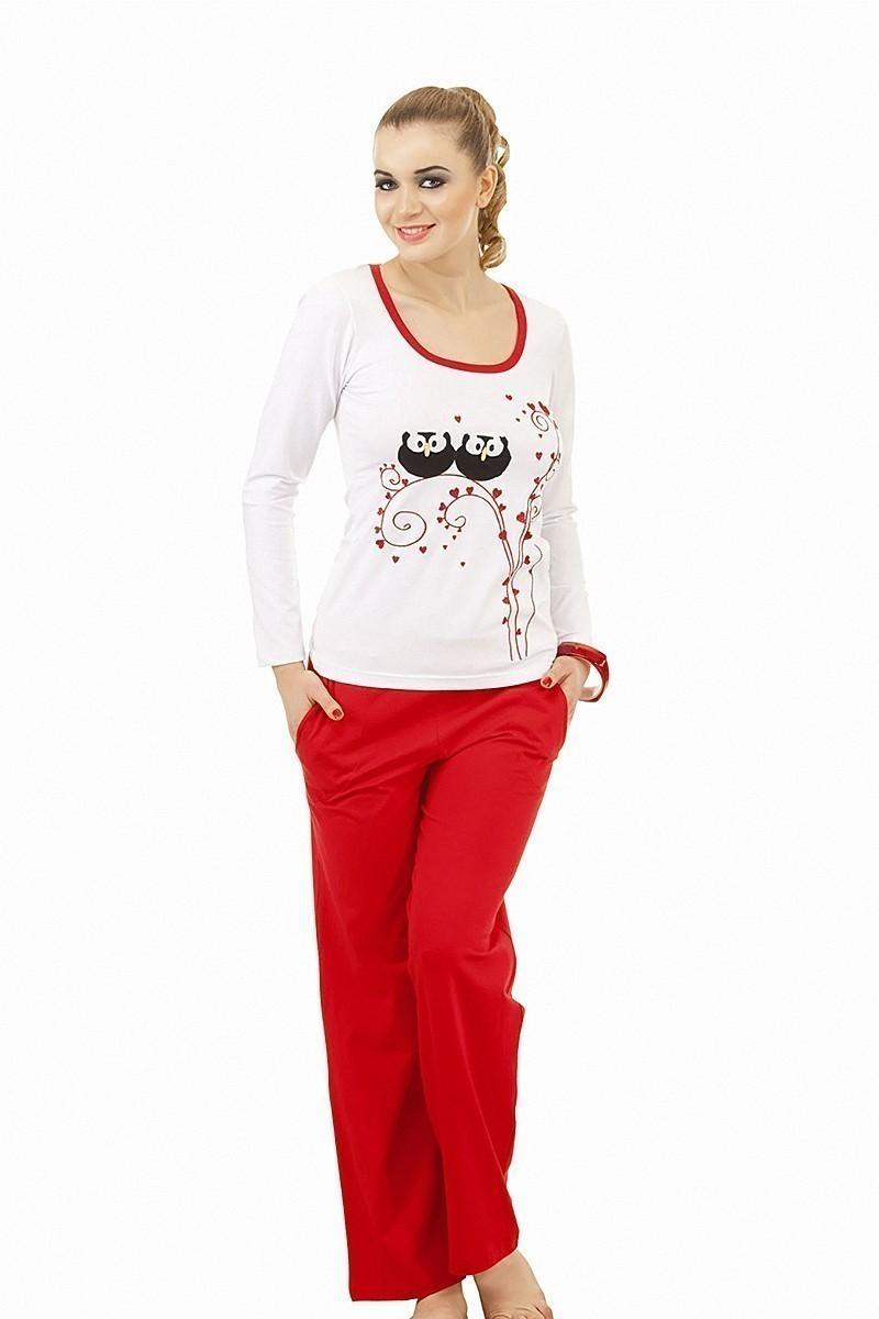 Lady Lingerie Kırmızı LL-9025 Bayan Pijama
