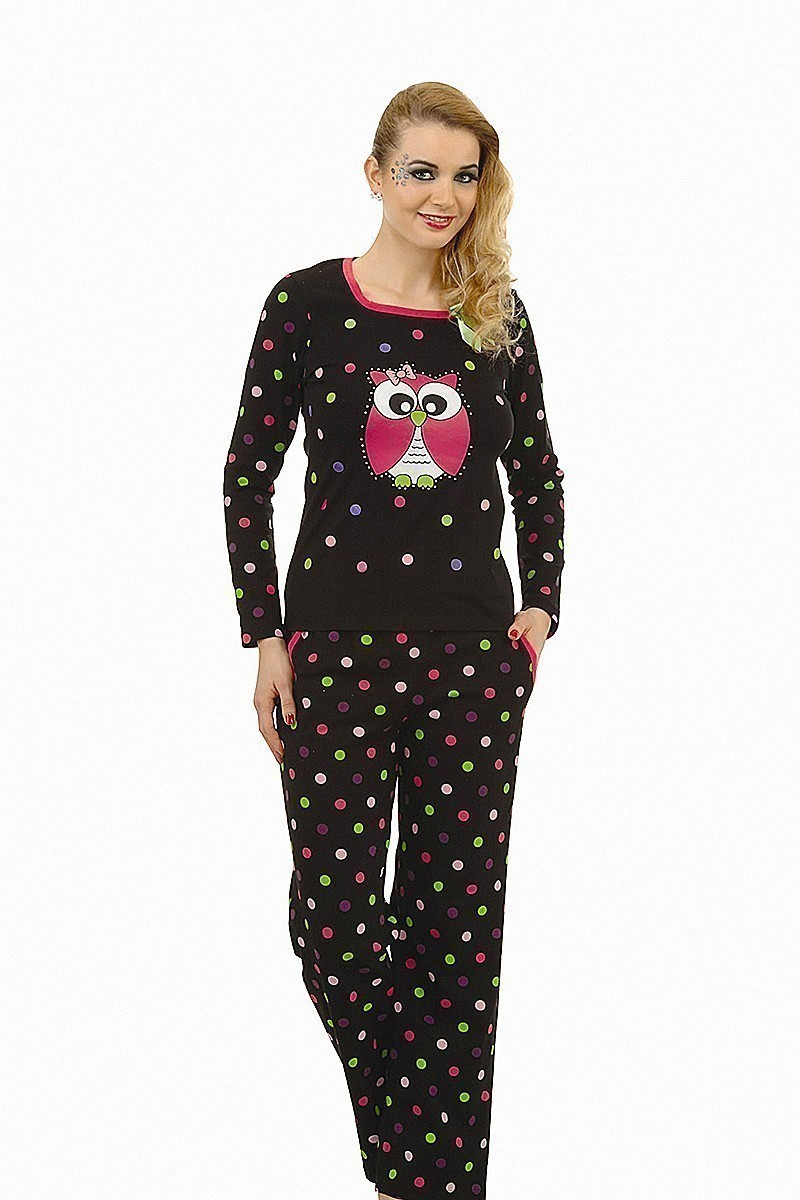 Lady Lingerie Siyah LL-9020 Bayan Pijama