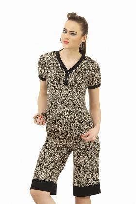 Lady Lingerie Leopar LL-3995 Bayan Pijama