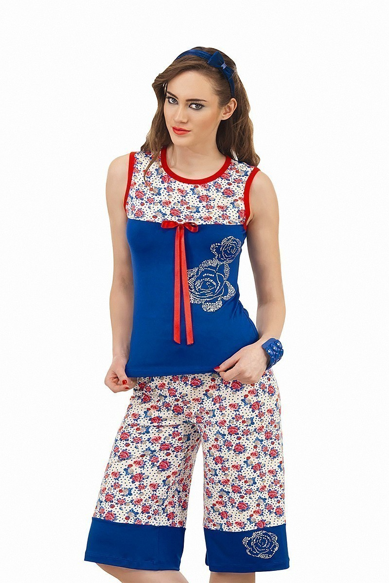 Lady Lingerie Mavi LL-3975 Bayan Pijama
