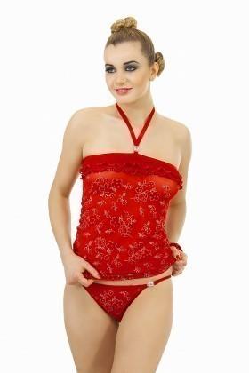Lady Lingerie Kırmızı LL-3855 Bayan Gecelik