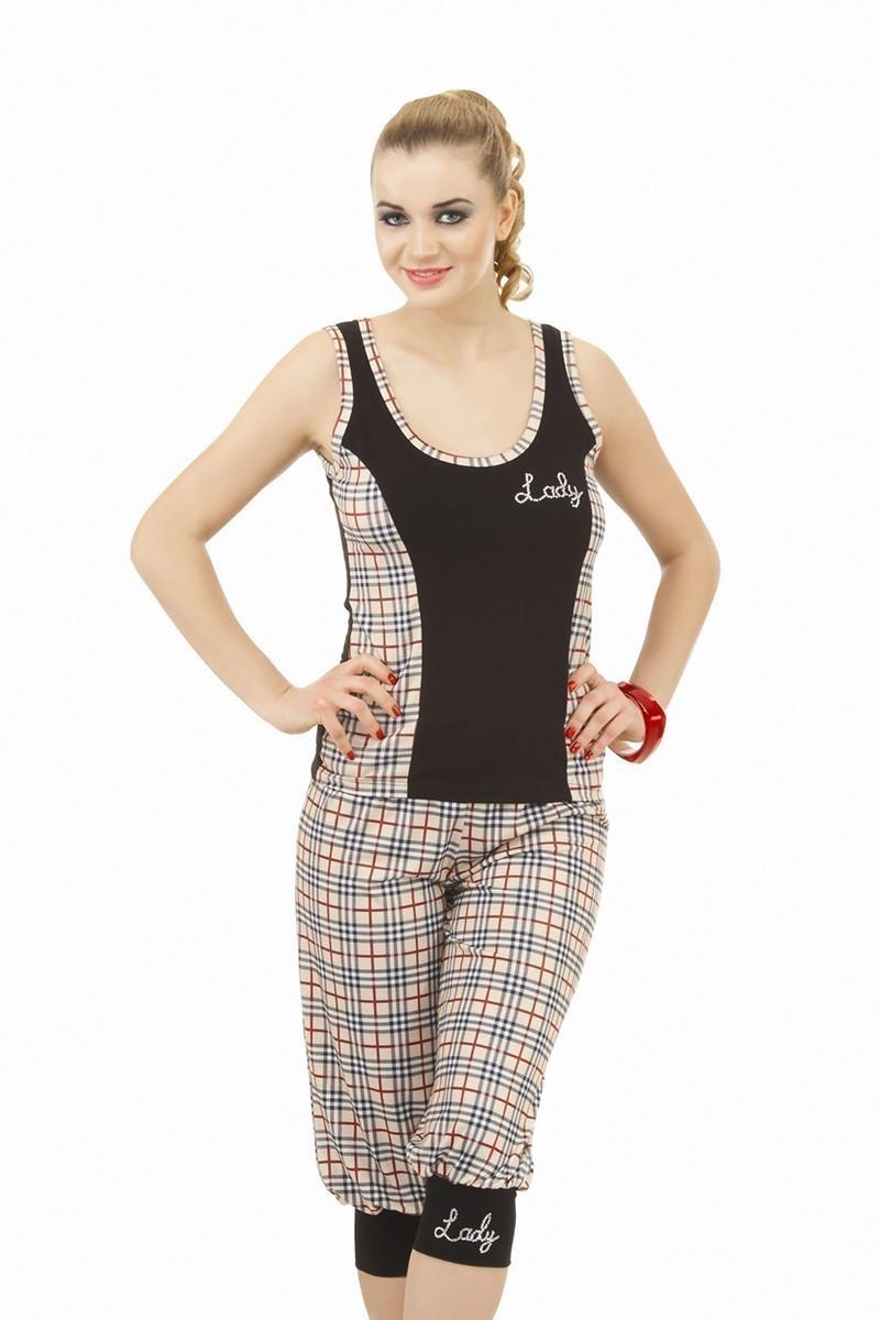 Lady Lingerie Siyah LL-3740 Bayan Pijama