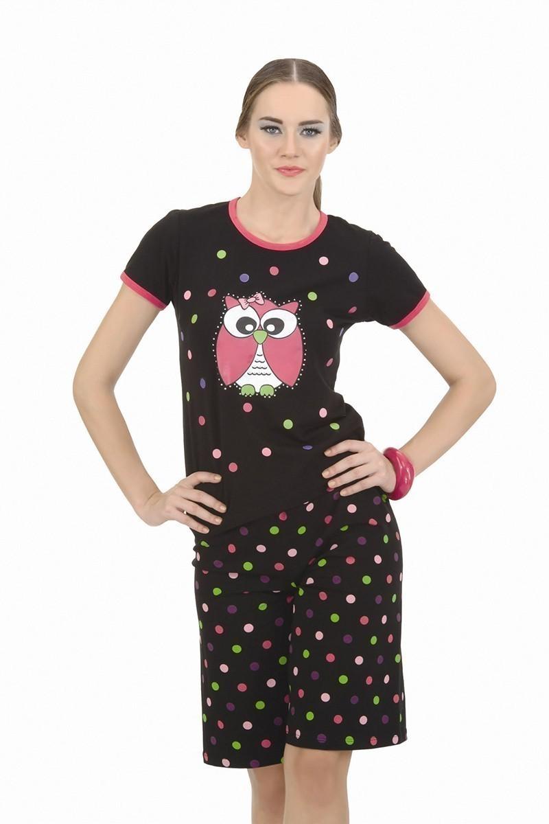 Lady Lingerie Siyah LL-3675 Bayan Pijama