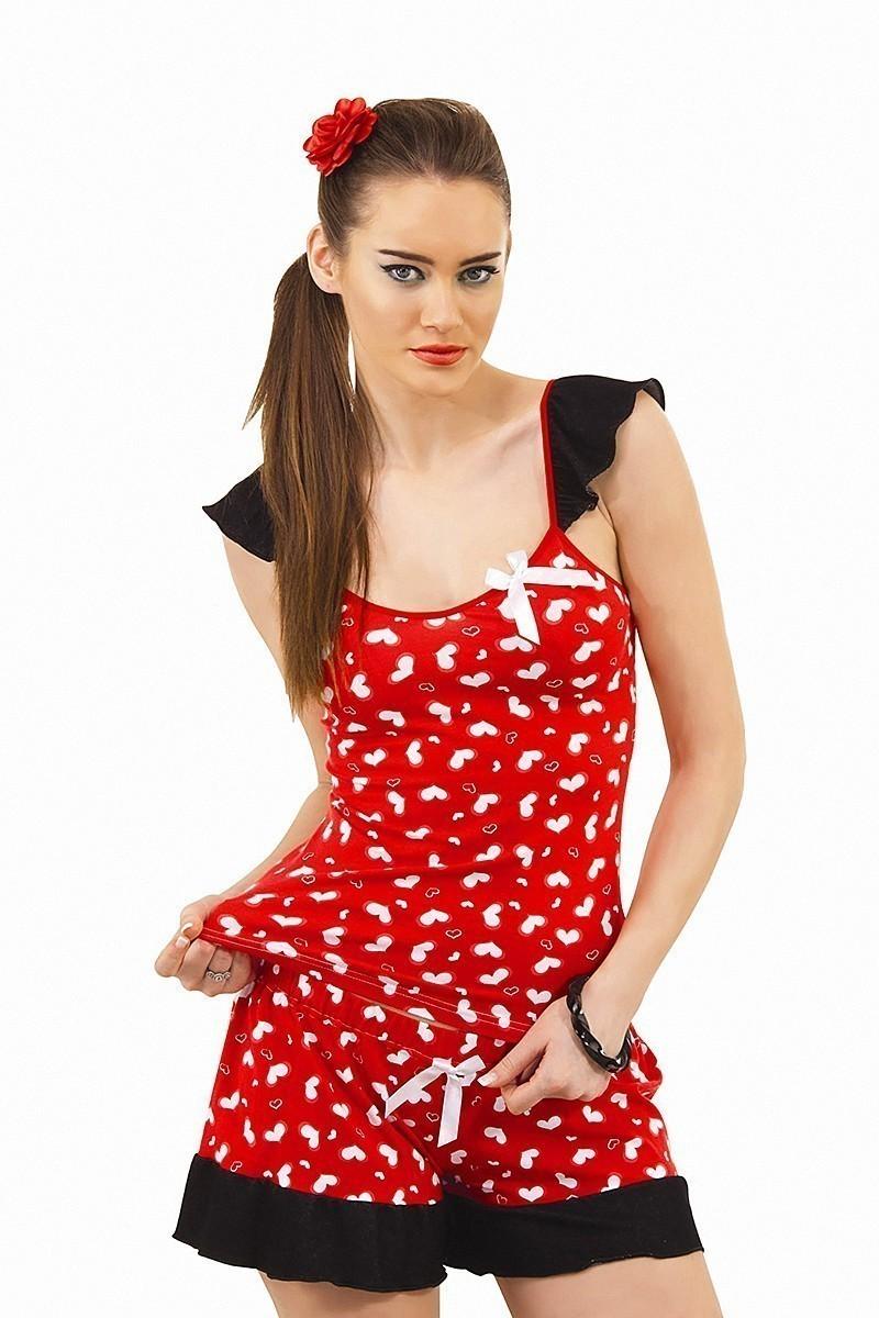 Lady Lingerie Kırmızı LL-3520 Bayan Gecelik