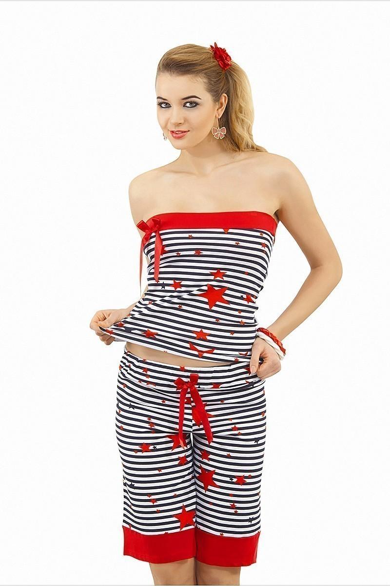 Lady Lingerie Kırmızı LL-3435 Bayan Pijama